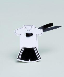 etiquette à dragées maillot de foot