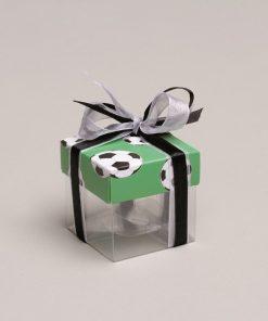 boite à dragées foot mini cube vert