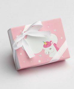 boite à dragées licorne rose
