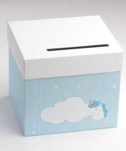 urne licorne bleu ciel