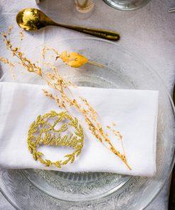 Décoration baptême blanc et or