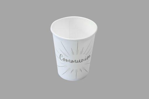 Gobelets blanc et argent deco communion