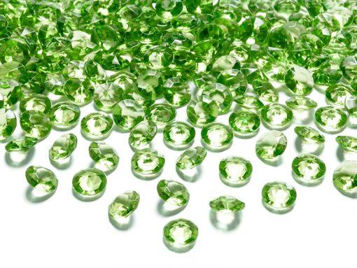 deco de table diamant vert anis