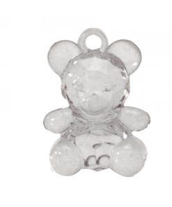 ourson transparent pendentif