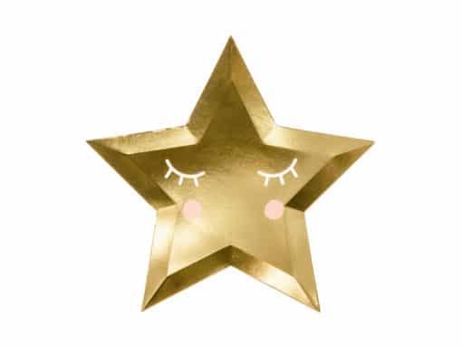 Assiette étoile or
