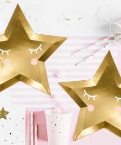 Dragées étoile or bapteme