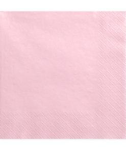 serviette rose clair