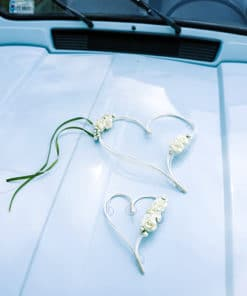 décoration voiture coeur ivoire ventouse