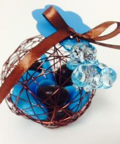 Boule métallique dragees chocolat