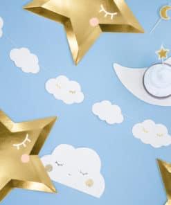 Guirlande nuage bapteme babyshower