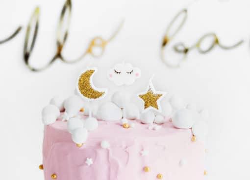 Bougie anniversaire nuage étoile lune