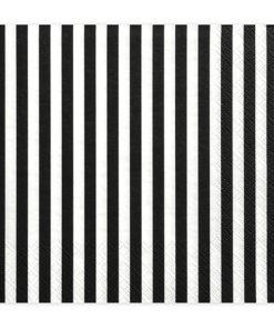 Seviette rayure noir et blanc
