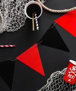 Guirlande fanion rouge et noir