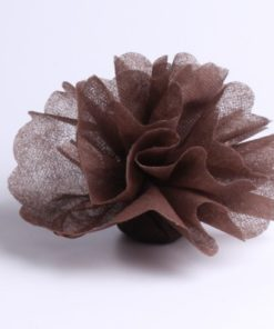tulle a dragees intisse marron chocolat