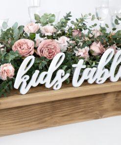 Déco de table enfant mariage
