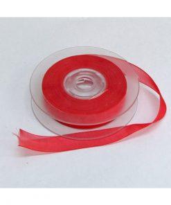 Ruban organza rouge
