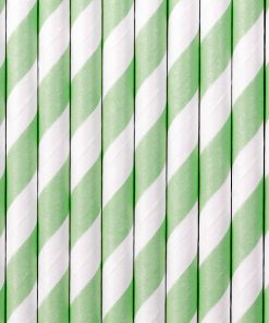 pailles rayées vert