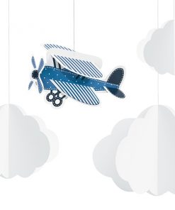 suspension deco nuage et avion
