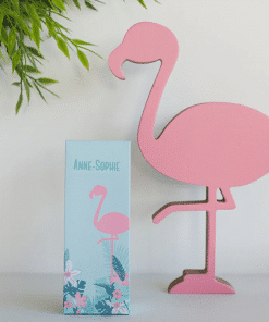 Boite a dragees flamant rose