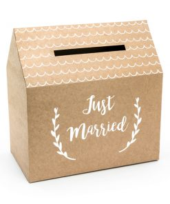 urne kraft -just married-urne mariage