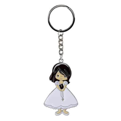 Porte clés communiante - dragées communion fille