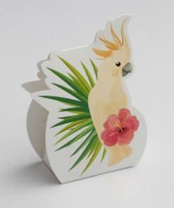 contenant à dragées peruuche-collection tropicale exotique