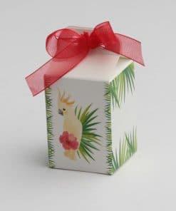 contenant à dragées perruche tropical exotique