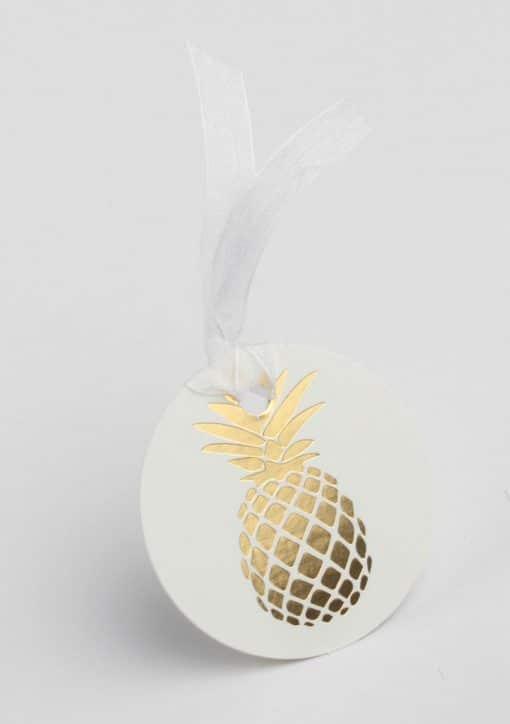 etiquette ananas tropical