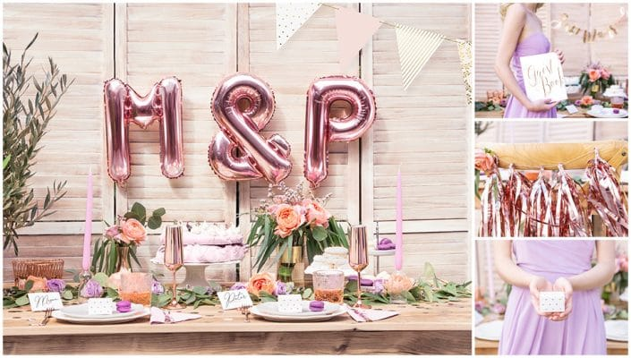 Décoration mariage Rose Gold