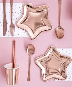 deco de table assiette rose gold