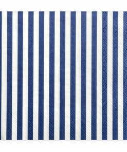 serviette rayées bleu et blanc