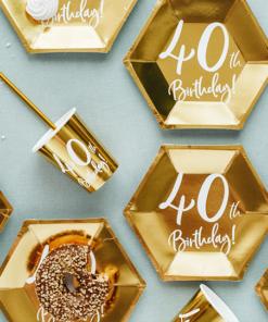 décoration anniversaire 40 ans vaisselle jetable
