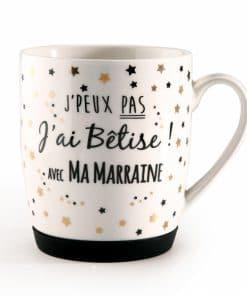 cadeau marraine mug betise