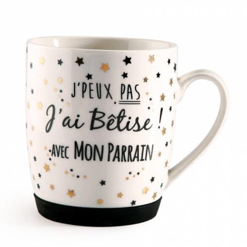 cadeau parrain mug betise