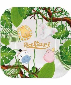 Assiette theme jungle safari savane