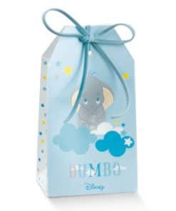Boite dragées éléphant Dumbo étui bleu