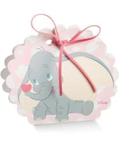 Boite éléphant Dumbo rose ronde