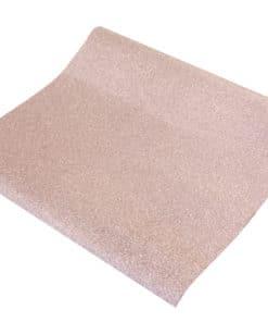 Chemin de table rose gold pailleté effet métal