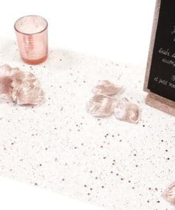 Chemin de table tulle pailleté rose gold