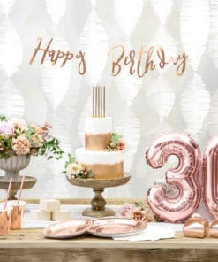 Deco anniversaire Rose Gold