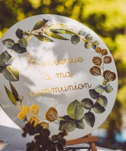 Pancarte bienvenue à ma communion