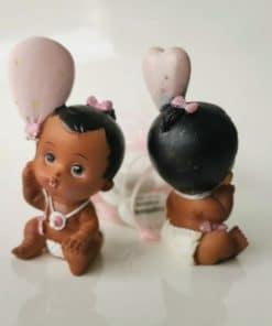 dragees figurine fille bébé noir