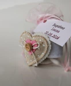 rond de serviette en feutrine coeur