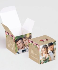 boite a dragees mariage avec photo
