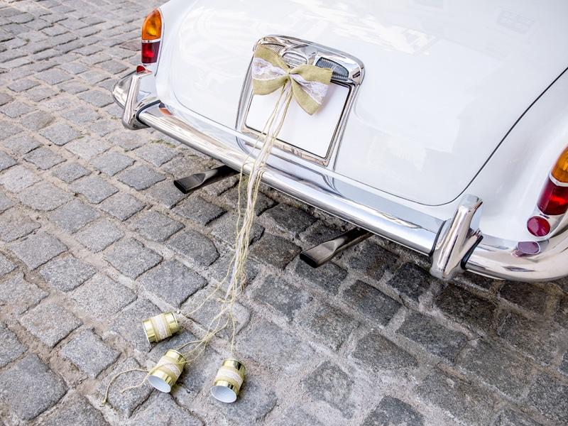 Decoration voiture mariage champetre