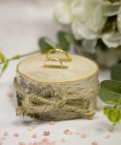 Porte alliance Rodin de bois mariage champetre
