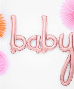 ballon baby shower rose gold