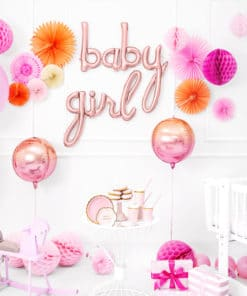 ballon girl Rose gold baby shower fille