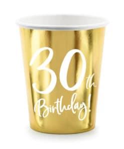 gobelet 30 ans blanc et or deco anniversaire 30 ans