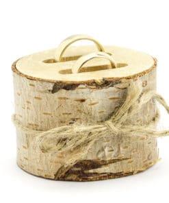 porte alliance mariage en bois champetre